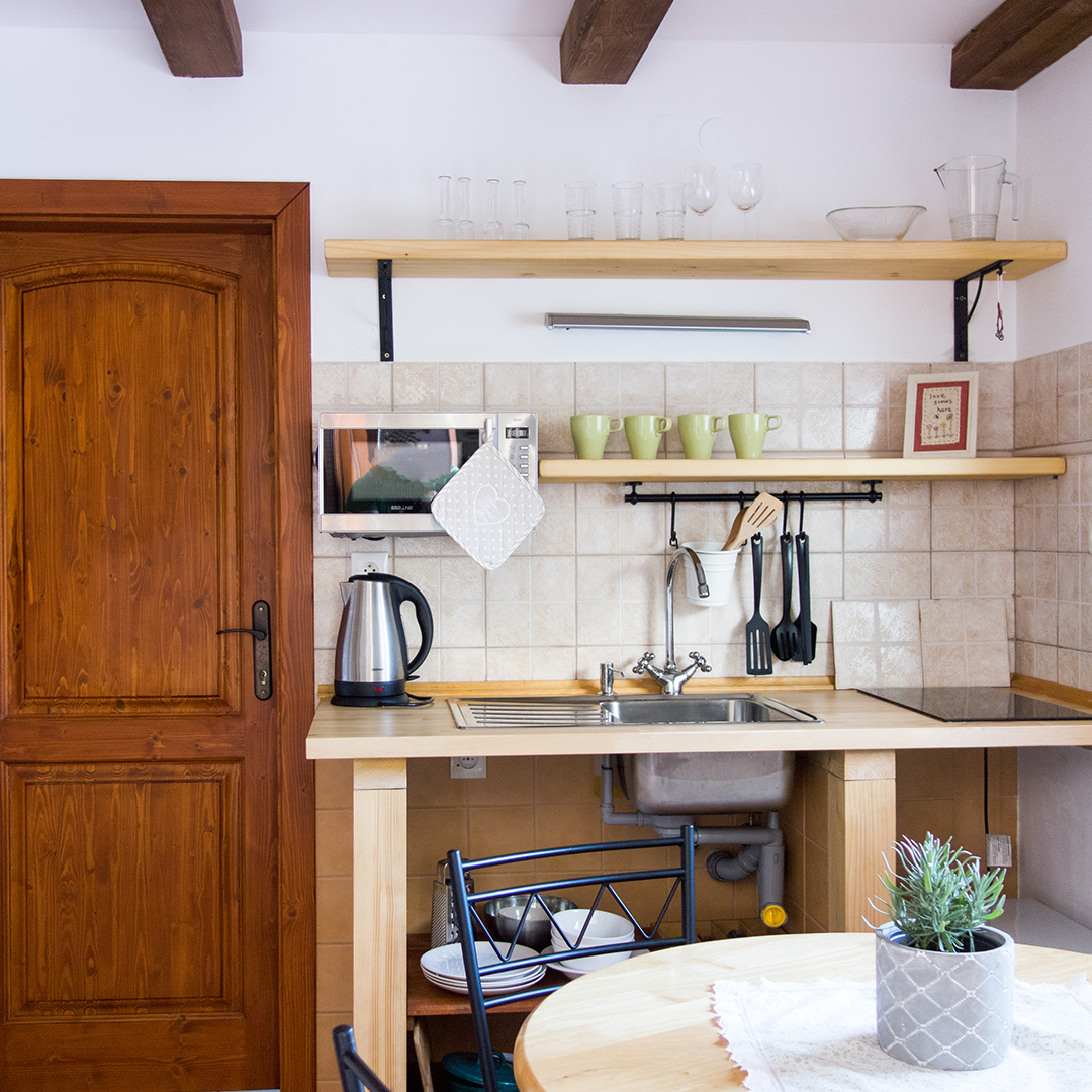 Apartmán A – kuchyňa