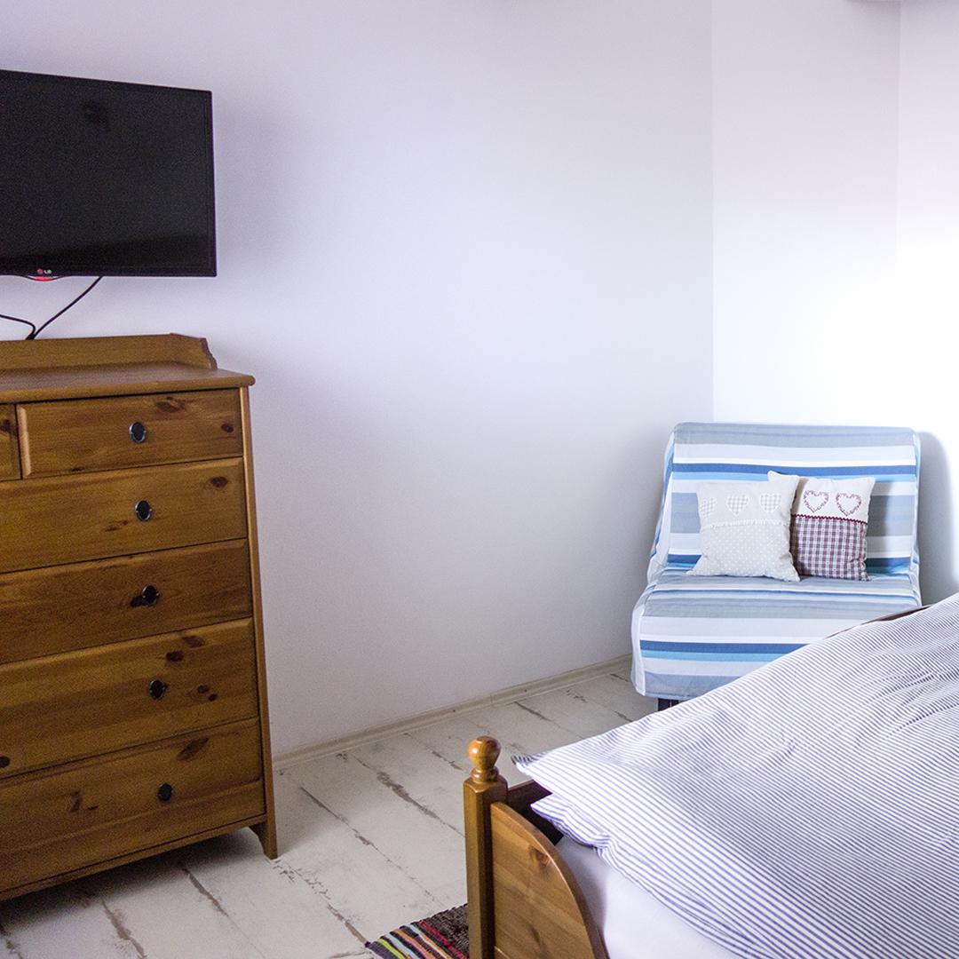 Apartmán A – spálňa
